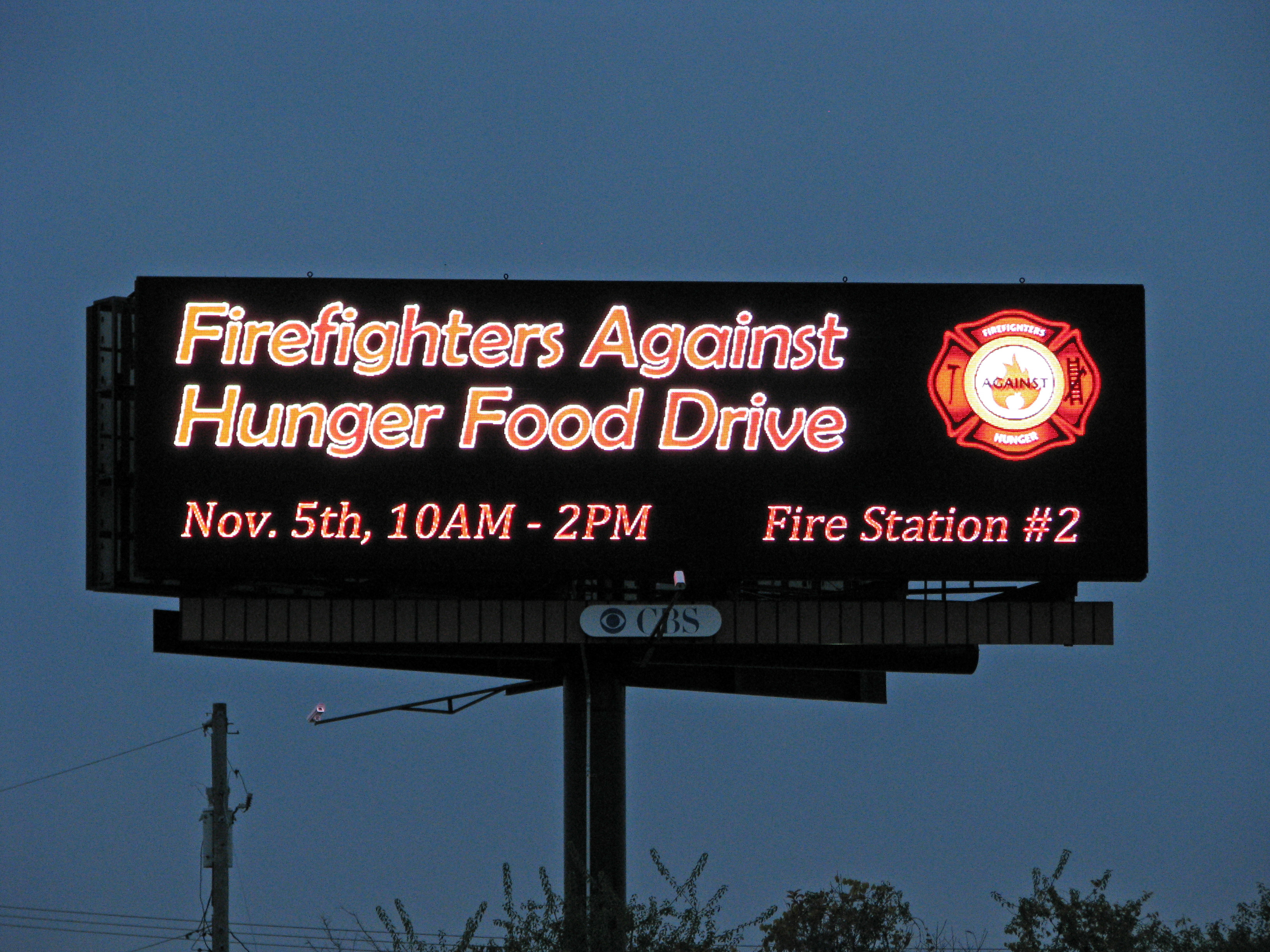 firefighters against hunger food drive
